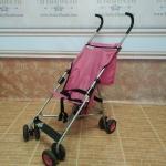 รถเข็นก้านร่มสีชมพู ยี่ห้อ kolcraft รหัสสินค้า : C0056