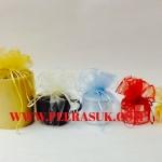 ถุงผ้าแก้วกลม (สีครีม) 45 ซม. แพคละ 10 ใบ