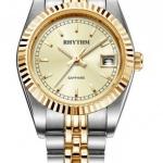 นาฬิกาผู้หญิง Rhythm รุ่น R1203S04, Traditional Oyster Sapphire Dual Tone Gold R1203S 04, R1203S-04