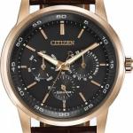 นาฬิกาข้อมือผู้ชาย Citizen Eco-Drive รุ่น BU2013-08E, Multi Dial Rose Gold Tone