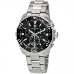 นาฬิกาผู้ชาย Tag Heuer รุ่น CAY111A.BA0927, Aquaracer Chronograph Quartz
