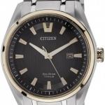 นาฬิกาข้อมือผู้ชาย Citizen Eco-Drive รุ่น AW1245-53E, Sapphire Super Titanium Rose Gold Tone
