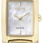 นาฬิกาข้อมือผู้หญิง Citizen Eco-Drive รุ่น EG2973-55D, Mother Of Peal Sapphire Gold Watch