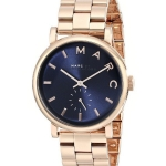 นาฬิกาผู้หญิง Marc By Marc Jacobs รุ่น MBM3330, Baker Navy Dial Rose Gold-tone Steel