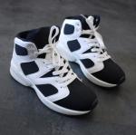 รองเท้าผ้าใบทรงกีฬาพื้นหนาสไตล์ยุโรป