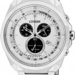 นาฬิกาข้อมือผู้ชาย Citizen Eco-Drive รุ่น AT2150-51A, Chronograph 50m Tachymeter Sports Watch
