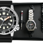นาฬิกาผู้ชาย Citizen Eco-Drive รุ่น BN0150-10EM, Promaster Diver's ISO 200m Set Extra Strap Men's Watch