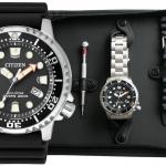 นาฬิกาผู้ชาย Citizen Eco-Drive รุ่น BN0150-10EM, Promaster Diver's ISO 200m Set Extra Strap Men's Watch