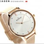 นาฬิกาผู้หญิง Skagen รุ่น SKW2151, Anita Rose Gold-Tone Mesh Bracelet Women's Watch