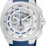 นาฬิกาข้อมือผู้ชาย Citizen Eco-Drive รุ่น AT2025-11A, Super Titanium Sapphire Chronograph Japan