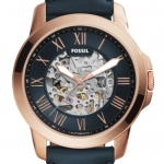 นาฬิกาผู้ชาย Fossil รุ่น ME3102, Grant Automatic Navy Blue Skeleton Dial Men's Watch