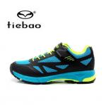 รองเท้าจักรยานเสือภูเขาแบบผ้าใบ TIEBAO รุ่น TB22-B1406 สีดำฟ้าเขียว