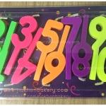 เทียน วันเกิด ตัวเลข 0-9