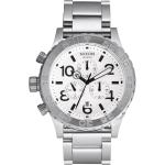 นาฬิกา ชาย-หญิง Nixon รุ่น A037100, 42-20 CHRONO Silver White Unisex Watch