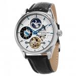 นาฬิกาผู้ชาย Stuhrling Original รุ่น 657.01, Legacy Special Reserve Dual Time Automatic Men's Watch