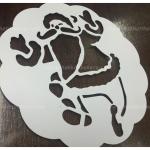 สเตนซิล ซานตาคลอส คริสมาส แผ่นโรยผงโกโก้ Stencils ตกแต่งหน้าเค้ก