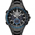 นาฬิกาผู้ชาย Seiko รุ่น SSG021, Coutura Radio Controlled Solar Chronograph Black PVD Men's Watch