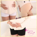 กางเกงซับในคนท้อง กันโป๊ มีสายปรับขนาด ใส่สบายไม่อึดอัด ดำ,ครีม,ขาว