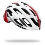 หมวกจักรยาน Blade / White Red + LED + Madcup