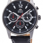 นาฬิกาผู้ชาย Orient รุ่น RA-KV0005B00C, Sports Chronograph Quartz Leather Strap Japan Made Men's Watch