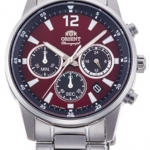 นาฬิกาผู้ชาย Orient รุ่น RA-KV0004R00C, Sports Chronograph Stainless Steel Quartz Japan Men's Watch