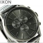 นาฬิกาผู้ชาย Nixon รุ่น A386632, Sentry CHRONO All Gunmetal
