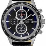 นาฬิกาผู้ชาย Seiko รุ่น SSC437P1, Solar Chronograph Alarm 100m