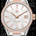 นาฬิกาผู้หญิง Tag Heuer รุ่น WAR1353.BD0774, Carrera White Mother of Pearl