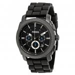 นาฬิกาผู้ชาย Fossil รุ่น FS4487, Machine Chronograph Black Silicone Strap