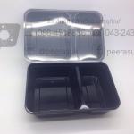 กล่องอาหาร 2 ช่องตัวดำ ORO @ 25