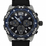 นาฬิกาผู้ชาย Orient รุ่น STW05004D0, Chronograph Quartz Japan Rubber Blue 100m