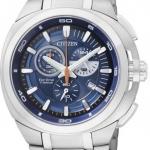 นาฬิกาข้อมือผู้ชาย Citizen Eco-Drive รุ่น AT2021-54L, Super Titanium 100m Sapphire Blue Chronograph