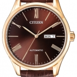 นาฬิกาผู้ชาย Citizen รุ่น NH8363-14X, Mechanical Automatic Day & Date Leather Strap 50m Men's Watch
