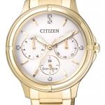 นาฬิกาผู้หญิง Citizen Eco Drive รุ่น FD2032-55A, Gold Stainless Steel Swarovski