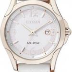นาฬิกาข้อมือผู้หญิง Citizen Eco-Drive รุ่น EW1782-04B, Sapphire Japan WR 30m Gold Tone Leather