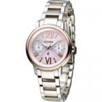 นาฬิกาผู้หญิง Citizen Eco Drive รุ่น FD1094-53W, XC Chrongraph Duratect Sapphire Japan