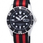 นาฬิกาผู้ชาย Seiko รุ่น SNZF17J1-NATO3, Seiko 5 Sports Automatic 23 Jewels NATO Strap