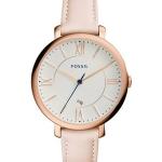 นาฬิกาผู้หญิง Fossil รุ่น ES3988, Jacqueline Blush Leather Strap Quartz Women's Watch
