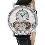 นาฬิกาผู้ชาย Stuhrling Original รุ่น 693.01, Legacy Skeleton Mother of Pearl Genuine Leather Strap Men's Watch