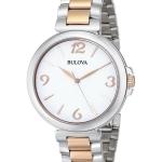 นาฬิกาผู้หญิง Bulova รุ่น 98L195, Two Tone White Dial Quartz