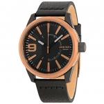 นาฬิกาผู้ชาย Diesel รุ่น DZ1841, Rasp Rose Gold & Black Dial Leather Men's Watch