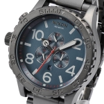 นาฬิกาผู้ชาย Nixon รุ่น A0832340, 51-30 CHRONO Gunmetal Blue Chronograph Watch