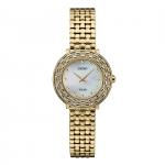 นาฬิกาผู้หญิง Seiko รุ่น SUP374, Tressia Solar Gold Tone Stainless Steel Diamond