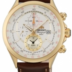 นาฬิกาผู้ชาย Orient รุ่น FTD0T001N0, Tachymeter Alarm Quartz Leather Strap Men's Watch