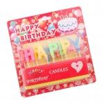 เทียนวันเกิด ตัวอักษร Happy Birthday