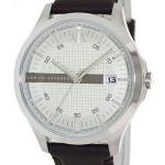 นาฬิกาผู้ชาย Armani Exchange รุ่น AX2100, Silver Dial Leather Strap