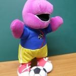 Barney เล่นฟุตบอล ขนาด 9 นิ้ว (มือสอง)