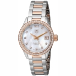 นาฬิกาผู้หญิง Tag Heuer รุ่น WAR1353.BD0779, Carrera 100 M - ∅32 Mm Rose Gold & Diamonds Ladies Watch