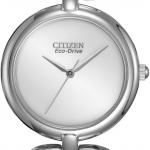 นาฬิกาผู้หญิง Citizen รุ่น EM0220-53A, Eco-Drive Silhouette Silver Dial Dress Watch
