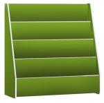 ชั้นวางหนังสือโชว์ปก สีเขียว